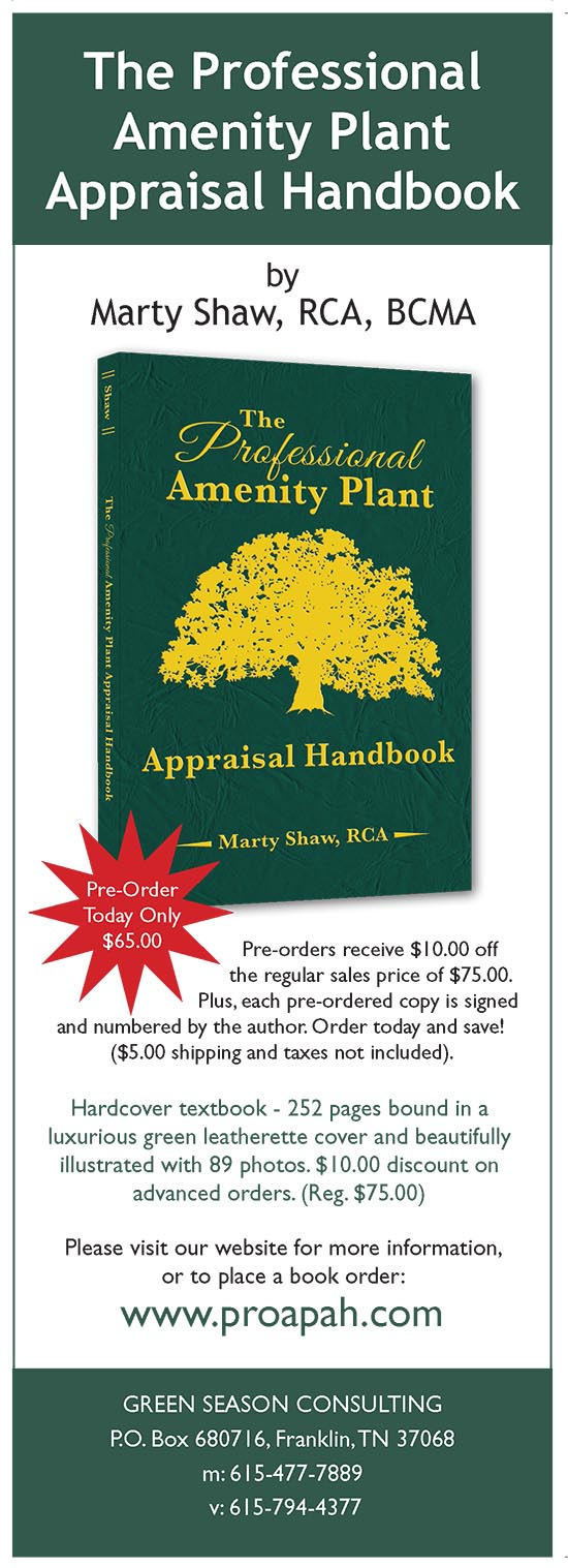 The Professional Amenity Plant Appraisal Handbook